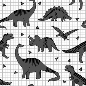 dinos // charcoal kids baby boys grid nursery