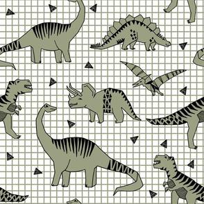 dino // dinosaurs artichoke green kids nursery baby boy t-rex prehistoric