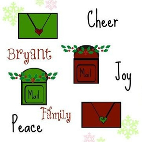 Holiday Letters- PERSONALIZED Bryant Family