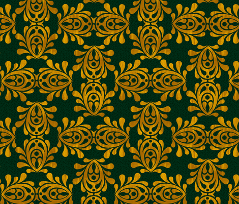 GOLDEN_LEAF-DAMASK_lg fabric by glimmericks on Spoonflower - custom fabric