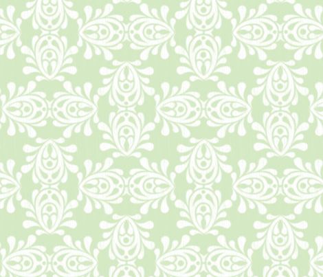 MINTwood-DAMASK_lg fabric by glimmericks on Spoonflower - custom fabric