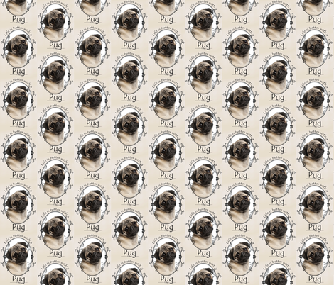 Life's Better Pug fabric by pateisen on Spoonflower - custom fabric