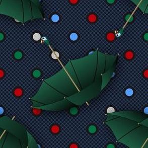 Green Umbrellas (Mary Poppins Coordinate)