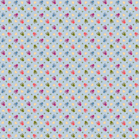 tumbling wols blue fabric by raccoons_rags on Spoonflower - custom fabric
