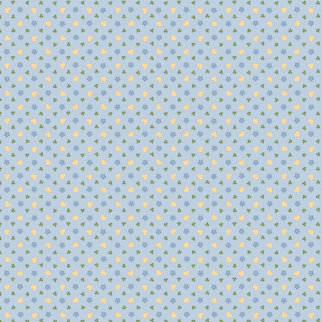 tumbling hearts wols accompaniment blue fabric by raccoons_rags on Spoonflower - custom fabric