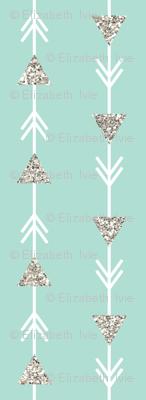 aqua climbing arrows  + silver sparkle