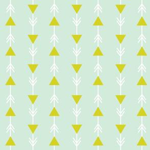 mint climbing arrows + citron