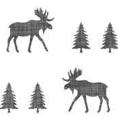 moose trot // in charcoal linen