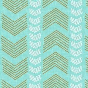 Herringbone Stripe in Aqua