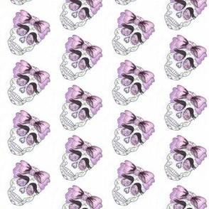 calavera de azúcar niña small print