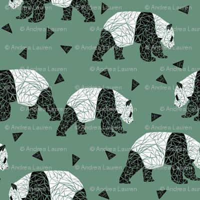 Geometric Panda - Viridian by Andrea Lauren