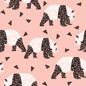 Geometric Panda - Pink by Andrea Lauren