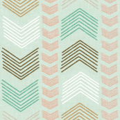 Herringbone Geometric Stripe in Summer Pastels