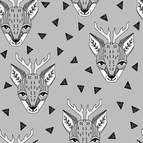 Deer - Slate by Andrea Lauren