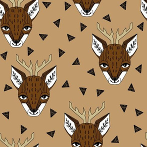 Deer Face - Lion Brown by Andrea Lauren