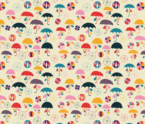 i'm happy when it rain fabric by sarabrezzi_design on Spoonflower - custom fabric