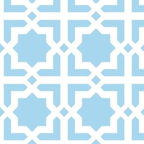 Casablanca turquoise-white XL