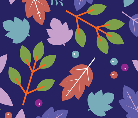 Woodland Leaves fabric by alicepotterillustration on Spoonflower - custom fabric