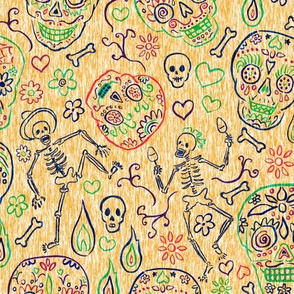 Sugar Skulls Tan Large