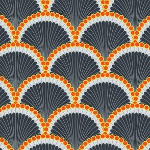 Art Deco Scallop with Orange