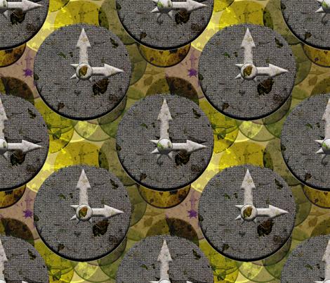 3 o'clock fabric by anniedeb on Spoonflower - custom fabric