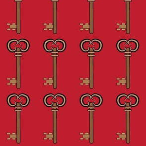 Steampunk Keys Red