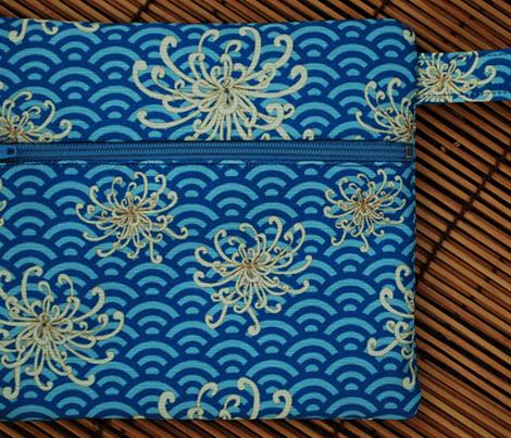 Umbrellievable flower (blue fans)