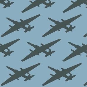 U-2 Silhouette Blue