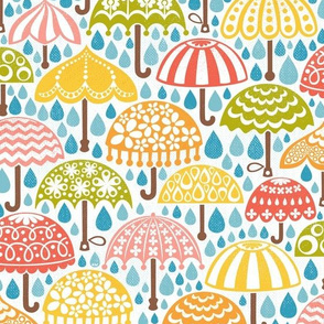Rainbow Vintage Brollies