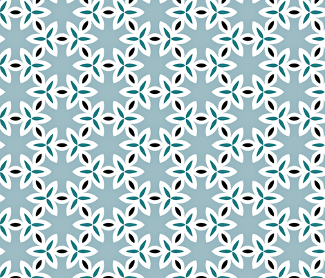Blue Pattern Geometric fabric by lauriekentdesigns on Spoonflower - custom fabric