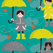 Umbrellas, Rubber Boots and Rainy Days