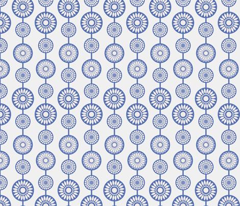 gueth_flower_string_blue fabric by juditgueth on Spoonflower - custom fabric