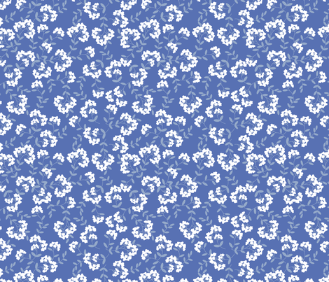 gueth_foliage_blue fabric by juditgueth on Spoonflower - custom fabric