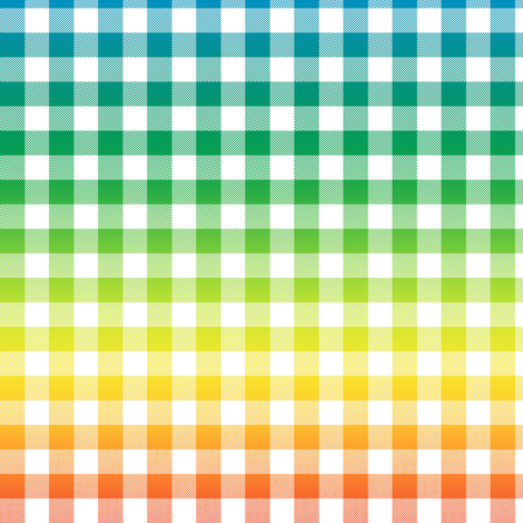 rainbow and white gingham fabric by weavingmajor on Spoonflower - custom fabric