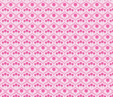 gueth_roses_pink fabric by juditgueth on Spoonflower - custom fabric