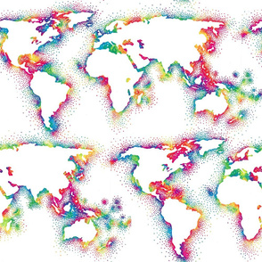 rainbow world map