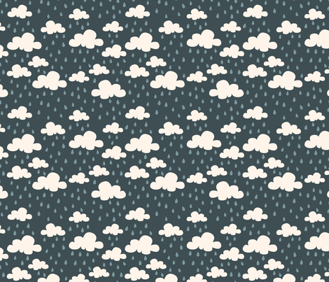 Rainy Day Clouds fabric by oliveandruby on Spoonflower - custom fabric