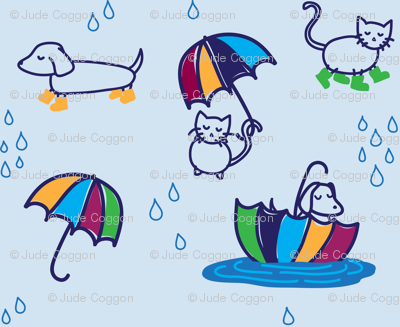 raining (cats and dogs)