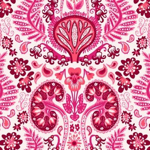 Pink Kidney Damask