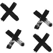 Black X SMALL PRINT - elvelyckan design