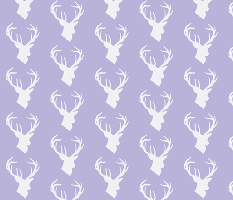 buck head lavender fabric by buckwoodsdesignco on Spoonflower - custom fabric