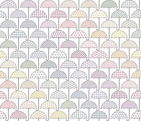 Umbrellas fabric by plaid_thursdays on Spoonflower - custom fabric