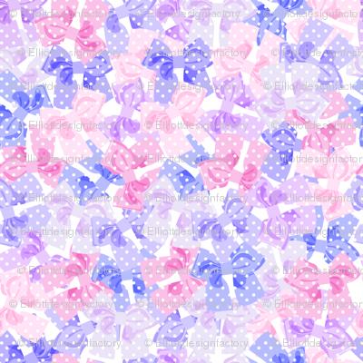Purple & Pink Dotty Bows Pile