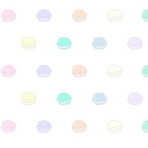 Macaron Polka Dots in White Multi