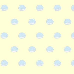 Macaron Polka Dots in Yellow/Blue