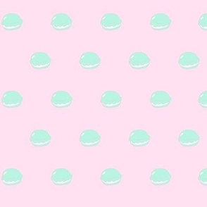 Macaron Polka Dots in Pink/Mint