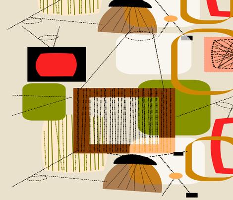 Mid-Century Modern Abstract fabric by hot4tees_bg@yahoo_com on Spoonflower - custom fabric
