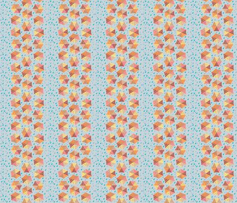 Umbrellas_and_Raindrops_A fabric by ruthjohanna on Spoonflower - custom fabric