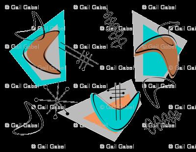 Mid-Century Modern Boomerangs