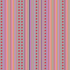 THE CLOWNY BALLERINE AND UMBRELLA Dotty Stripes